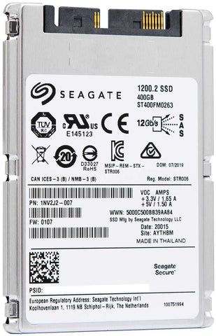 "Seagate 1200.2 ST400GM0263 400GB SAS 12Gb/s 1.8"" SED Manufacturer Recertified SSD"