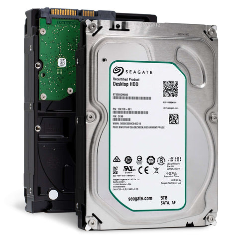 "Seagate Desktop HDD ST5000DM000 5TB 5.9K RPM SATA 6Gb/s 128MB 3.5"" Manufacturer Recertified HDD"
