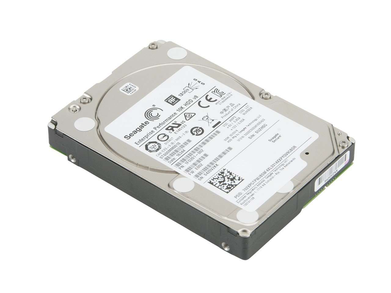 "Seagate Enterprise Performance ST600MM0018  600GB 10K RPM SAS 128MB 2.5"" HDD"