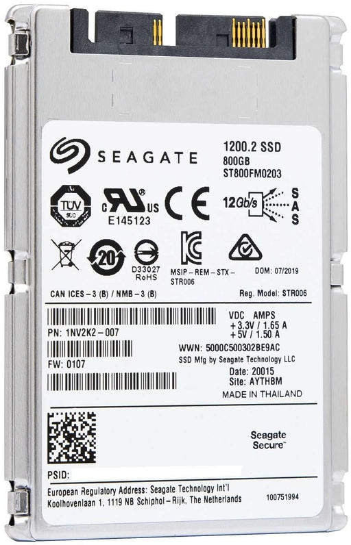"Seagate 1200.2 ST800FM0203 800GB SAS 12Gb/s 1.8"" SED Solid State Drive"