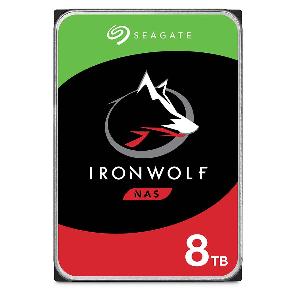 Seagate IronWolf ST8000VN0022 8TB 7.2K RPM SATA 6Gb/s 512e 3.5in Recertified Hard Drive
