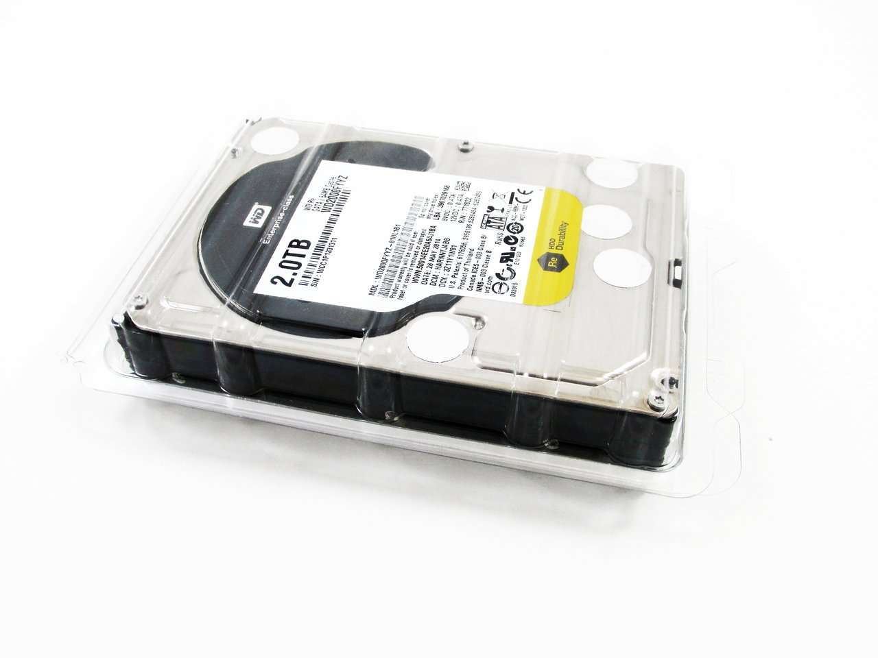 "Western Digital Re WD2000FYYZ 2TB 7.2K RPM SATA-6Gb/s 64MB 3.5"" Manufacturer Recertified HDD"
