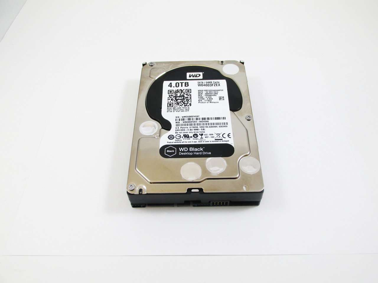 "Western Digital Black WD4003FZEX 4TB 7.2K RPM SATA 64MB 3.5"" Manufacturer Recertified HDD"