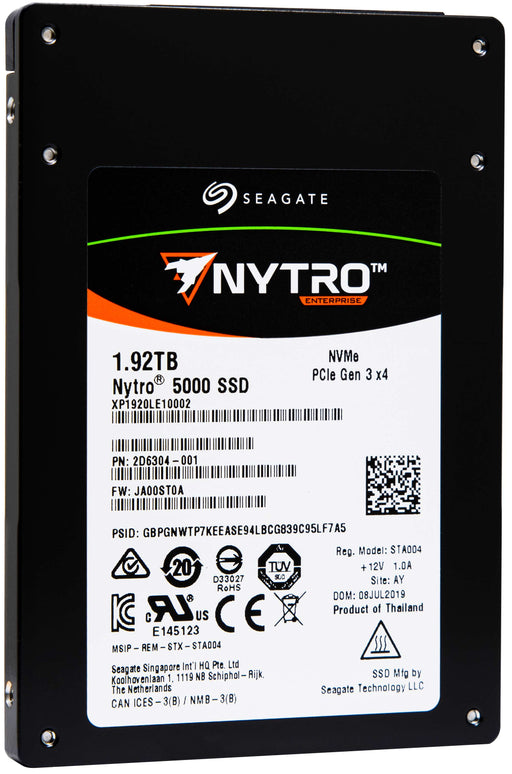 "Seagate Nytro 5000 XP1920LE10002 1.92TB PCIe Gen3.0 x4 4GB/s 2.5"" Read Intensive Solid State Drive"