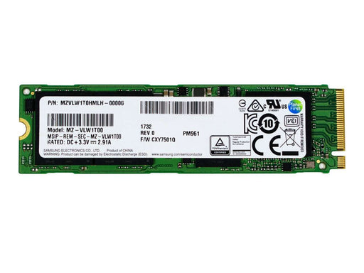 Samsung PM961 MZVLW1T0HMLH 1TB PCIe Gen3 x4-4GB/s M.2 Solid State Drives