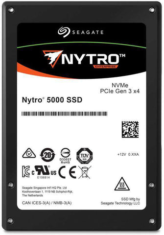 "Seagate Nytro 5000 XP1600HE10012 1.6TB PCIe Gen3.0 x4 4GB/s 2.5"" SED Mixed Use Solid State Drive"