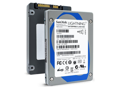 "SanDisk Lightning SDLB6JC-016T-01 LB1606R 1.6TB SAS 6Gb/s 2.5"" Read Intensive Manufacturer Recertified SSD"
