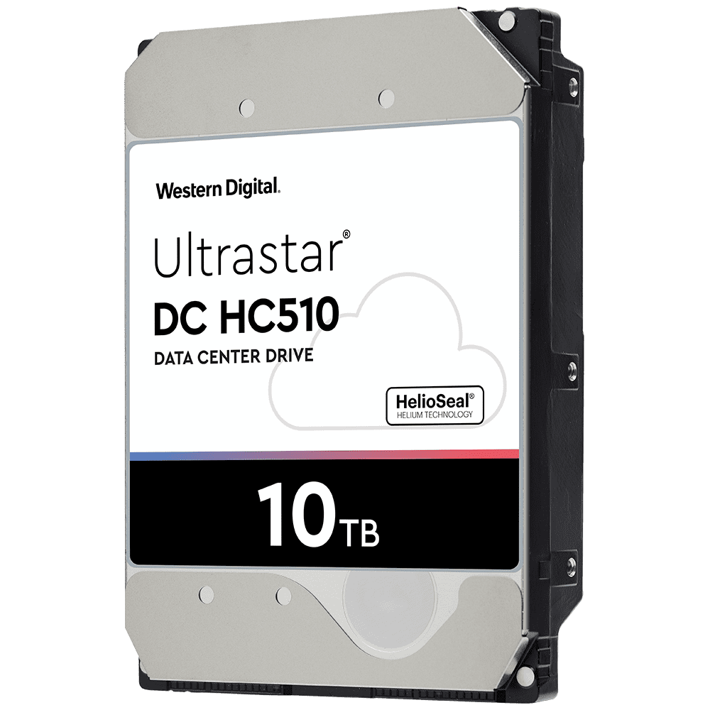 "Western Digital Ultrastar DC HC510 0F27454 HUH721010ALE604 10TB 7.2K RPM SATA 6Gb/s 512e 256MB Cache 3.5"" SE Power Disable Pin HDD"