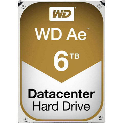 "Western Digital Ae WD6001F4PZ 6TB 5.76K RPM SATA-6Gb/s 3.5"" Cold Storage Archival Manufacturer Recertified HDD"