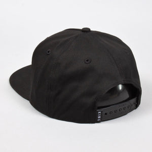 Bethnal Pinch Panel Snapback Cap - Black