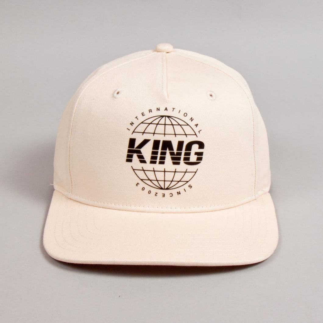 Bethnal Pinch Panel Snapback Cap - Cement
