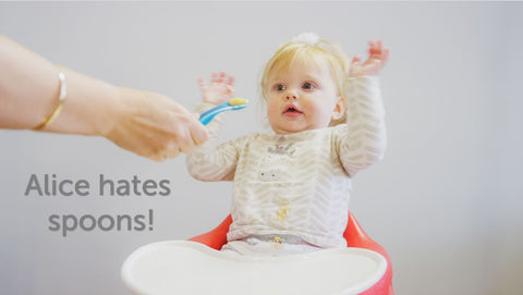 Alice Hates Spoons! Could fussy eating be a defence mechanism against overfeeding, if putting things in their mouth is the first thing a baby can do for themselves?