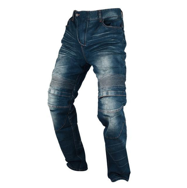 DUHAN Blue / Black Motorcycle Denim Jeans Mens