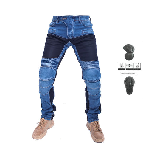 TKOSM Adventure Biker Denim Jeans With Mesh