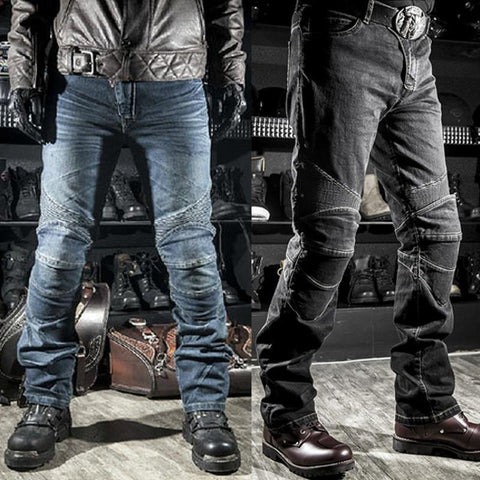 ROCK BIKER Straight Fit Motorcycle Jeans With Armor