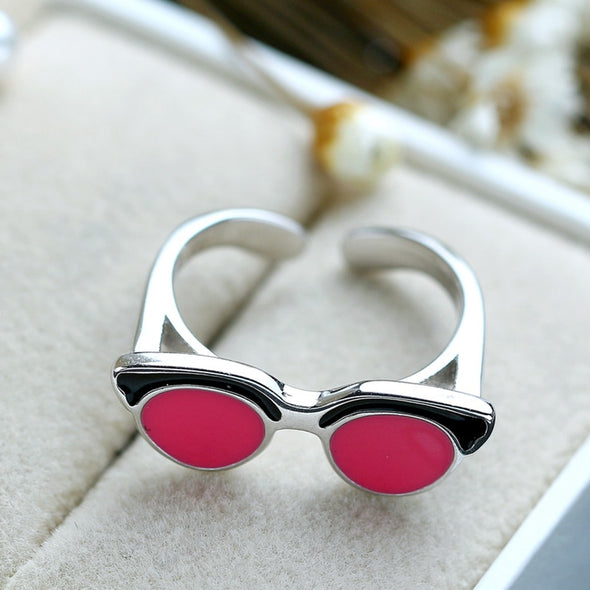 Adjustable Pink Sunglasses Ring