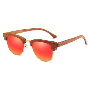 Carly Polarized Bamboo Sunglasses