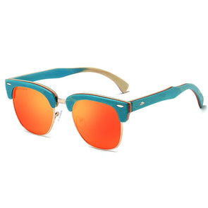 Sunburst Wooden Frame Sunglasses