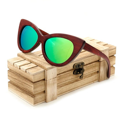 Melody Cat Eye Wooden Sunglasses