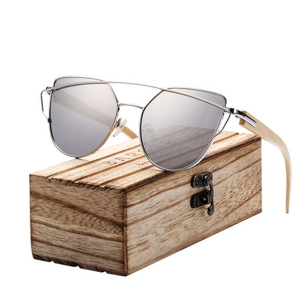 Cat Eye Bamboo Sunglasses