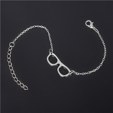 Sunglasses Charm Silver Anklet
