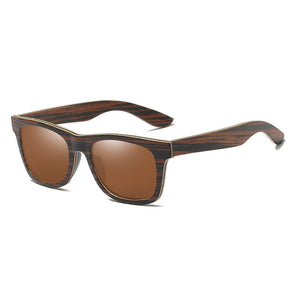 Topaz Polarized Wood Sunglasses