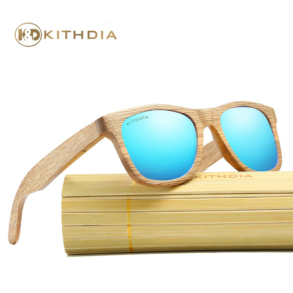Hannah Bamboo Polarized Sunglasses