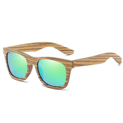 Aries Natural Zebra Wood Sunglasses