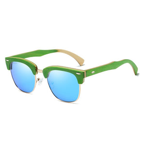 Forest Green Wood Sunglasses