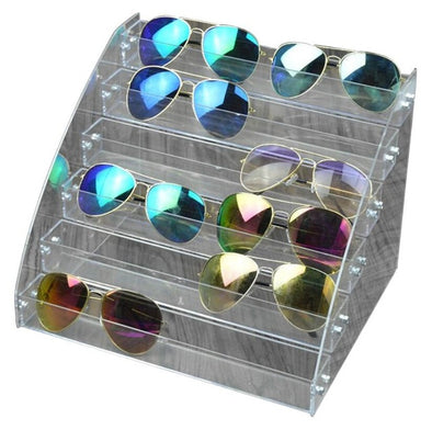 Acrylic Desk Top Sunglasses Organizer