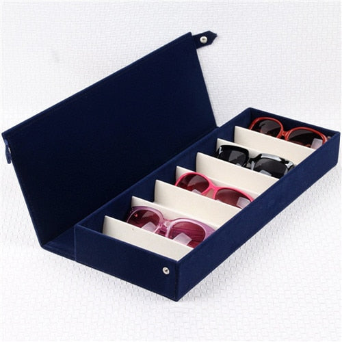 Rectangle 8 Grid Sunglasses Organizer