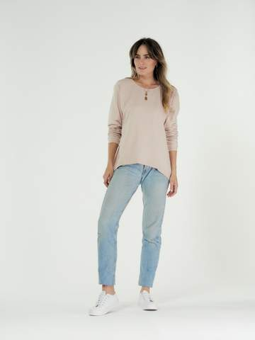 Lucy Sweater-By Clé 'Blush'