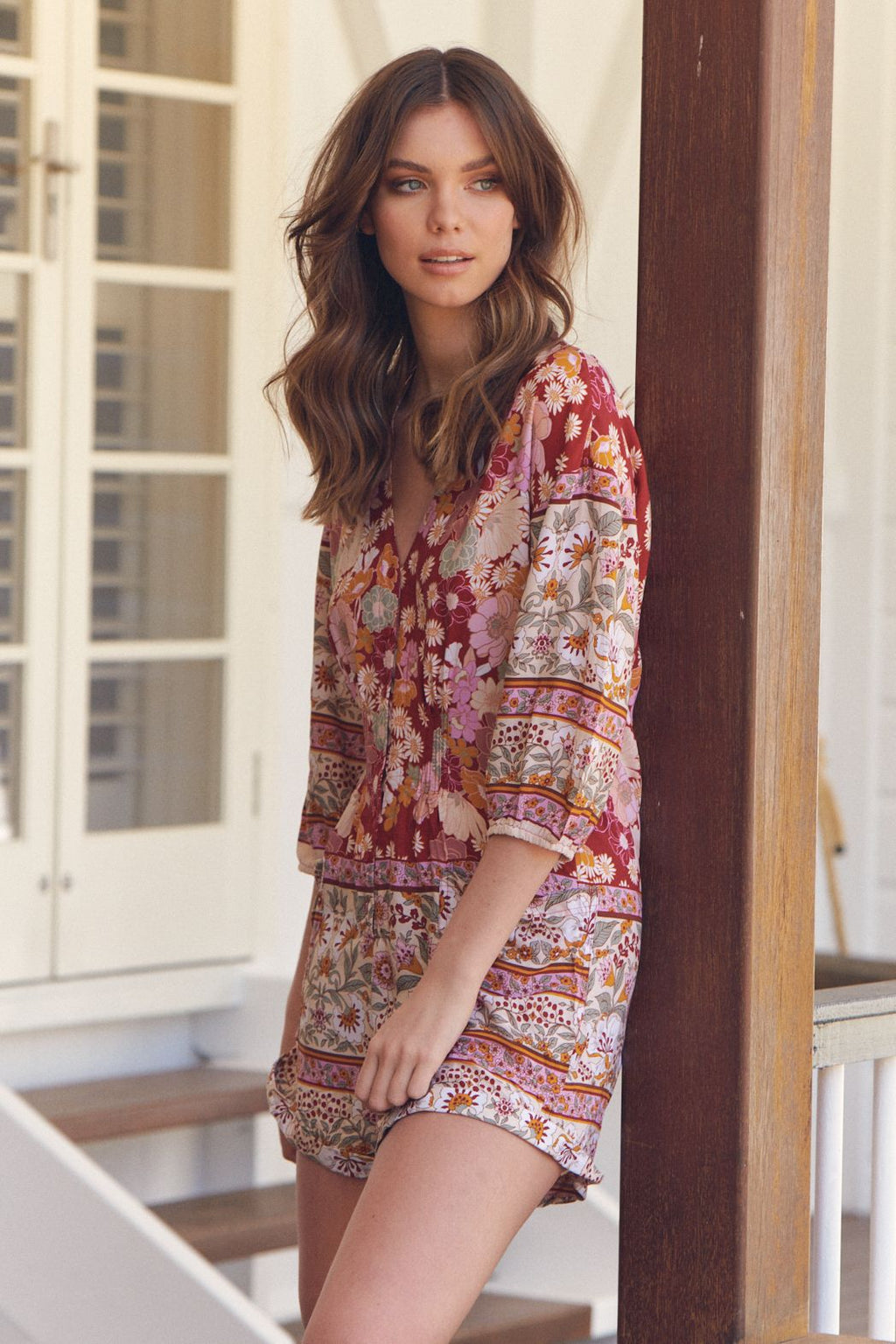 Jaase Tallow Playsuit - Flower Child