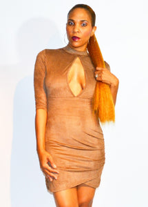 Caramel Kitty Mini Dress