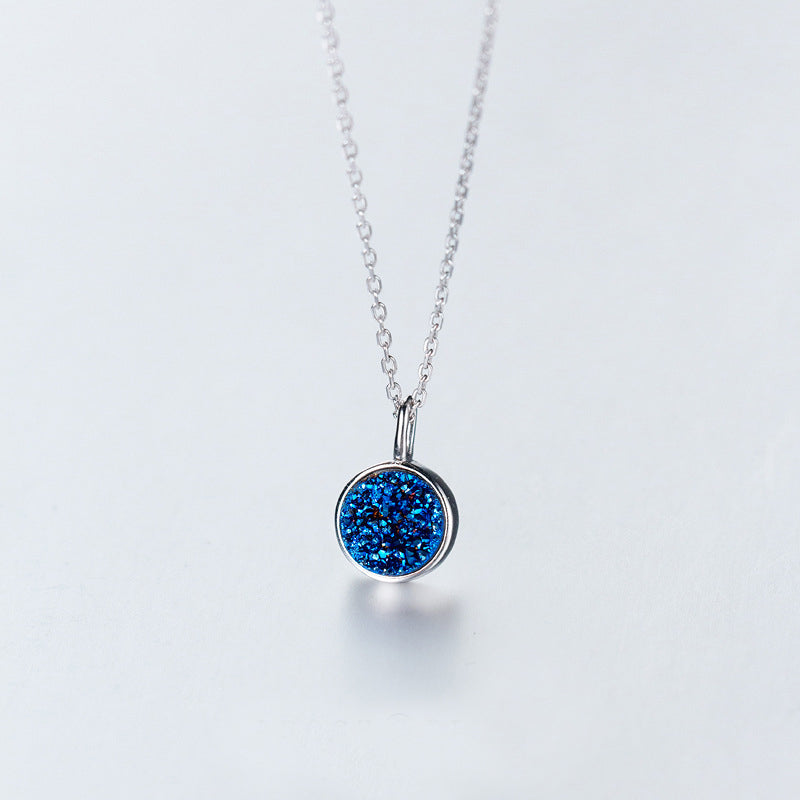 Blue Druzy Crystal Necklace