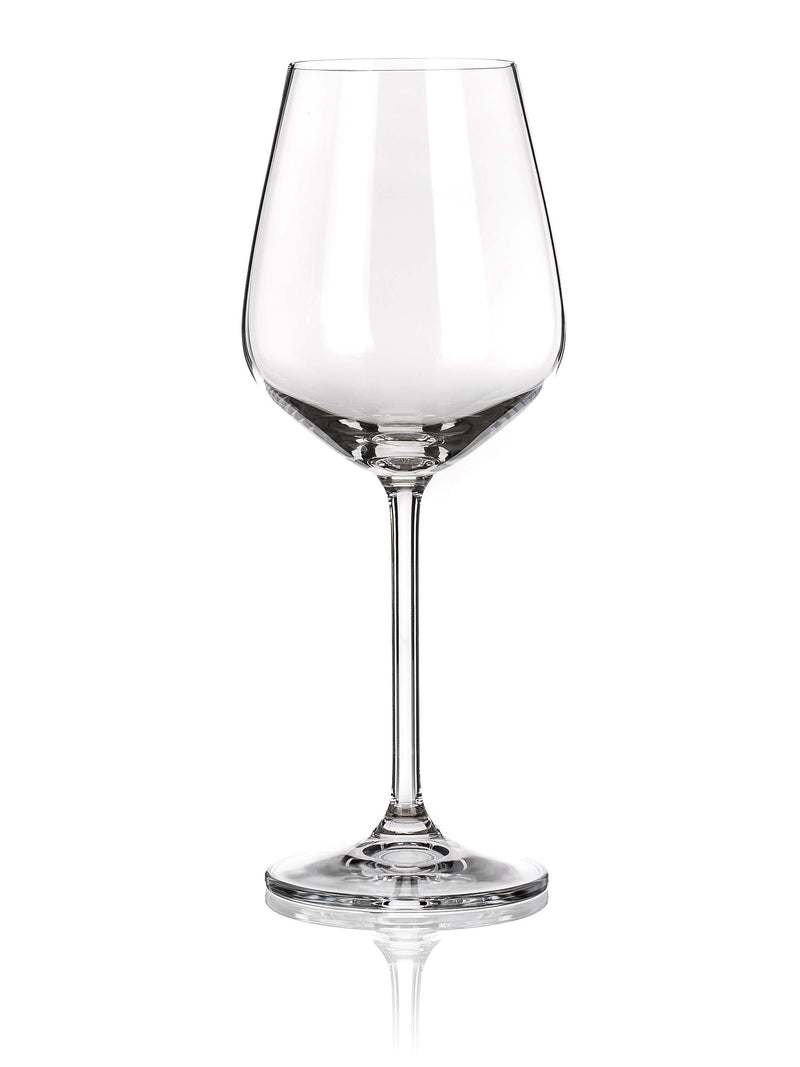 Maison Forine - Lauren White Wine Glass,Wine Glass,Maison Forine Crystal By Bohemia
