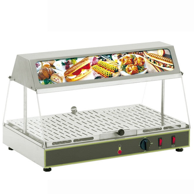 Roller Grill WDL100 Counter Top Heated Display Unit 590W x 350D x 390H (mm) 0.65kW,Heated Display,Roller Grill