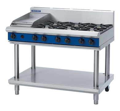 Blue Seal Evolution Series G518C-LS - 1200mm Gas Cooktop/Griddle - Leg Stand,Griddles - Gas,Blue Seal