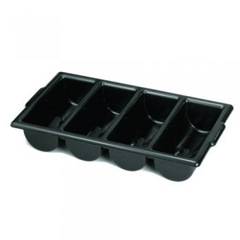 Tablecraft Black Cutlery Bin,Cutlery Storage,Tablecraft