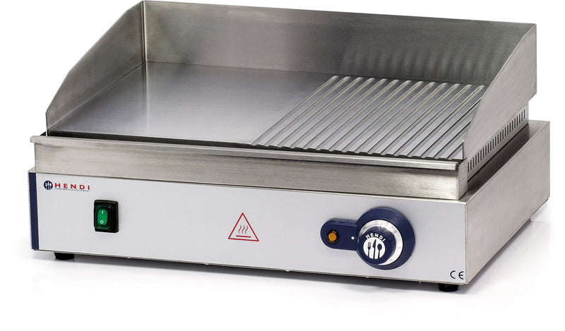 Hendi - Electric Griddle Large - Smooth & Ribbed,Electric Table Top Griddle,Hendi