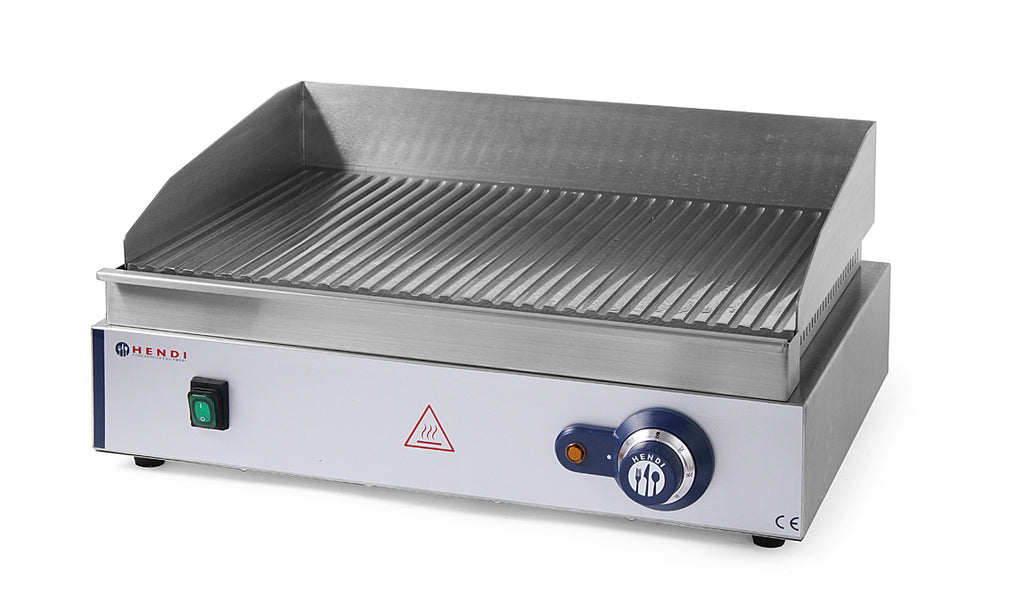 Hendi - Electric Griddle Large - Ribbed,Electric Table Top Griddle,Hendi