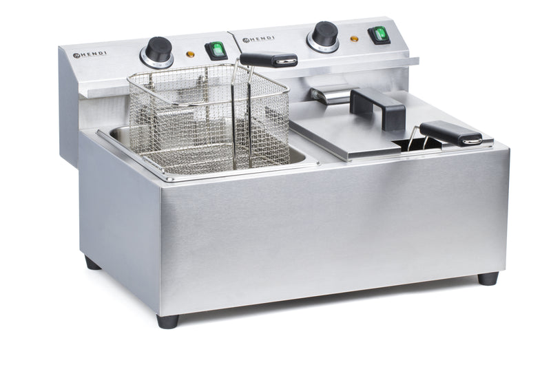 Hendi - Electric Double Table Top Fryer -2x  8 Litre,Electric Table Top Fryer,Hendi