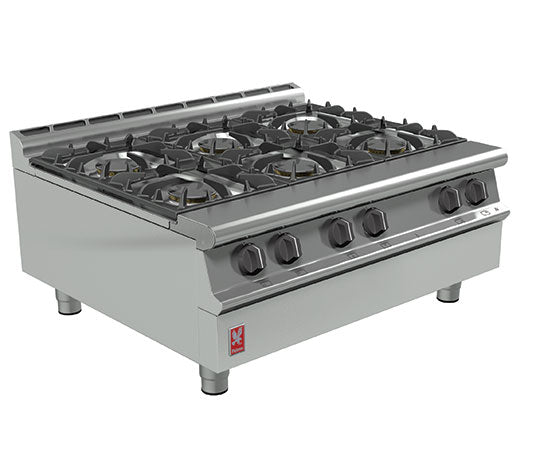 Falcon G3121 Gas Six Burner Boiling Top,Boiling Tops & Hobs,Falcon