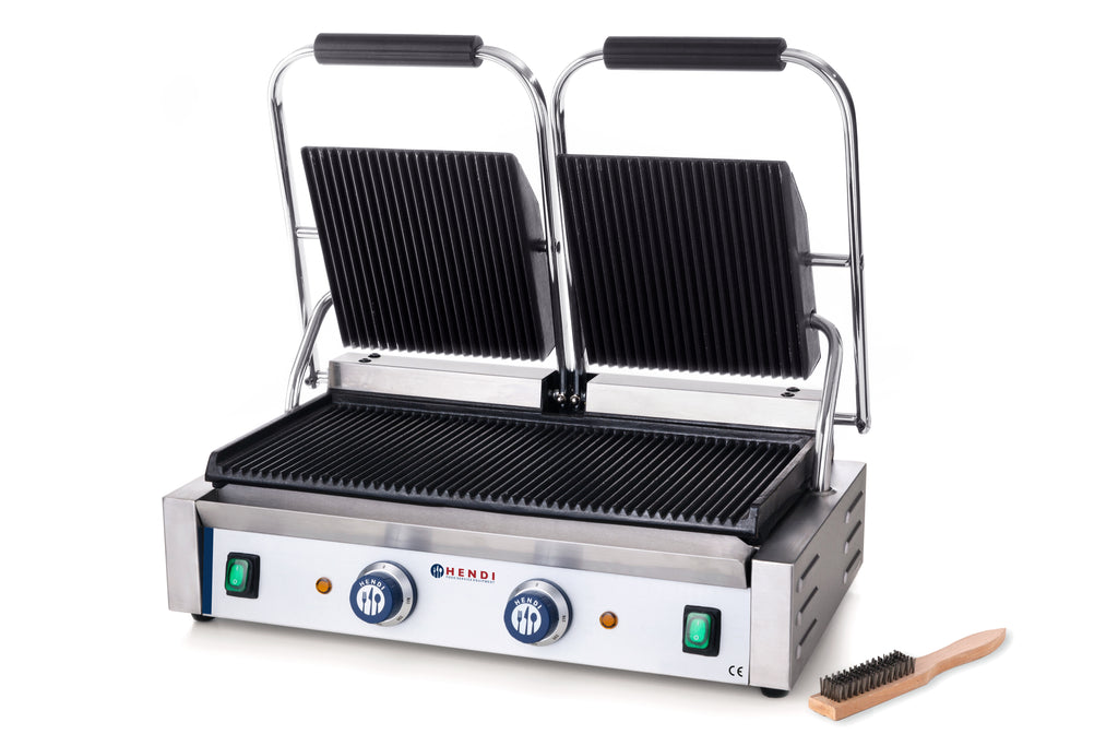 Hendi - Double Ribbed Top & Bottom Contact Grill,Contact Grill,Hendi