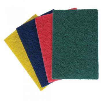 3M - Colour Coded Scourers Blue 150x230mm (Case of 500),Scourers,3M