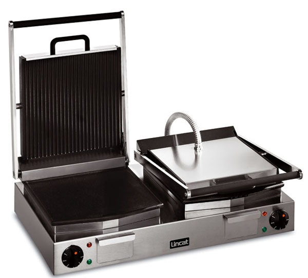 Lincat LRG2 Electric Ribbed Grill Double - ribbed top, smooth bottom,Pannini Grills,Lincat