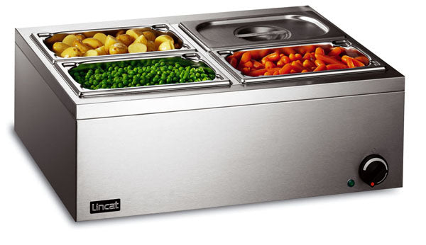 Lincat LBM2W Electric Bain Marie 4 x 1/4 Gastronorms (wet or dry),Bains Maries,Lincat