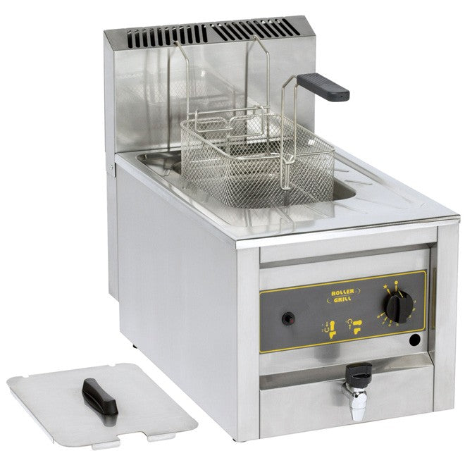 Roller Grill RFG12 Gas Single 10L Counter Top Fryer 400W x 660D x 565H (mm) 6.6kW,Fryers - Electric,Roller Grill