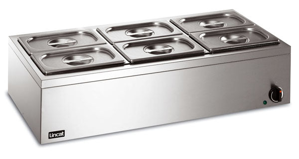 Lincat LBM3W Electric Bain Marie 6 x 1/4 Gastronorms (wet or dry),Bains Maries,Lincat