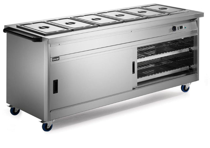Lincat P8B6PT Panther 800 Hot Cupboard Bain Marie Top Pass Through,Hot Cupboards,Lincat